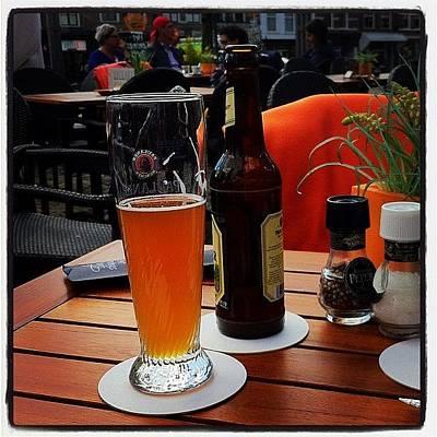 Dutch Photograph - #dutch #beer #outdoordining by Angela Breeden