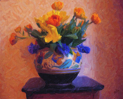 Briex Painting - Dutch Flower Pot by Nop Briex