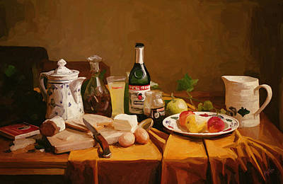 Briex Painting - Dutch Still Life With A Hint by Nop Briex