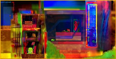 Fuzzy Digital Art - Dwellings II by Mathilde Vhargon