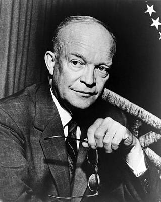 Art Print featuring the photograph Dwight D Eisenhower - President Of The United States Of America by International  Images