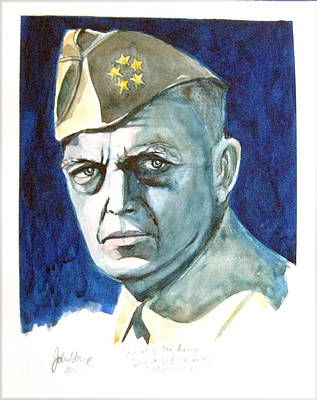 Eisenhower Painting - Dwight D Eisenhower by Ray Johnstone