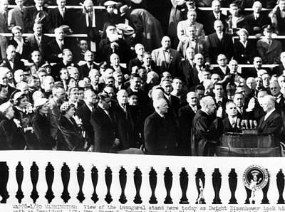 Dwight Eisenhower First Inauguration Art Print by Everett