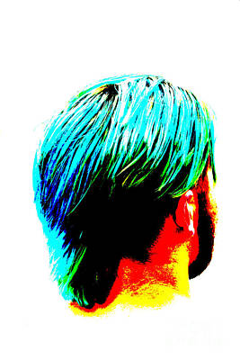 Photograph - Dyed Hair Man by Susan Stevenson