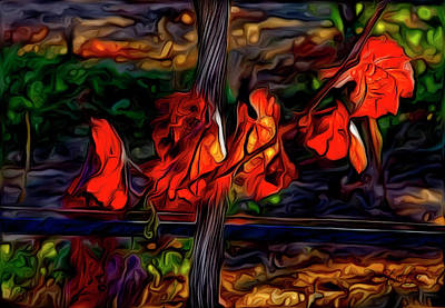 Vineyard Digital Art - Dying On The Vine by Patricia Stalter