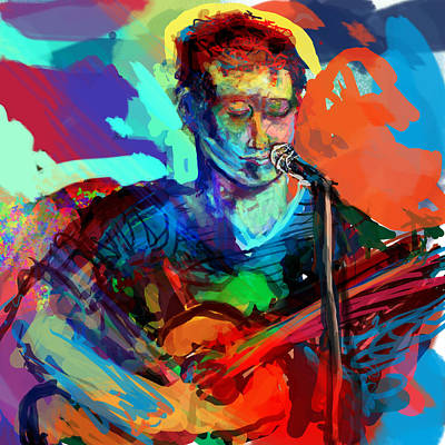 Dylan's Performance Art Print by James Thomas