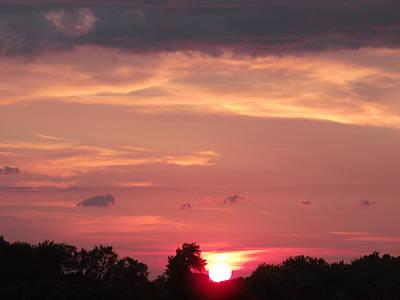Dynamic Red Sunset Original