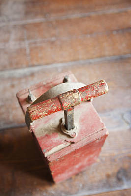 Plunger Photograph - Dynamite Detonator Box. Plunger Handle by Bryan Mullennix