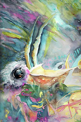 Fauna Painting - Dyptic Hungry 01 by Miki De Goodaboom