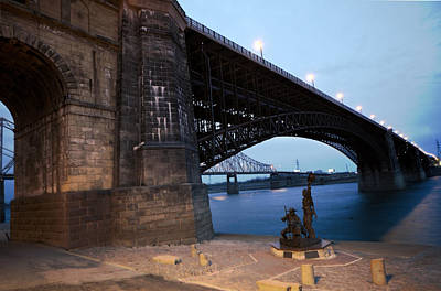 Photograph - Eads Bridge Lewis And Clark Landing by David Coblitz