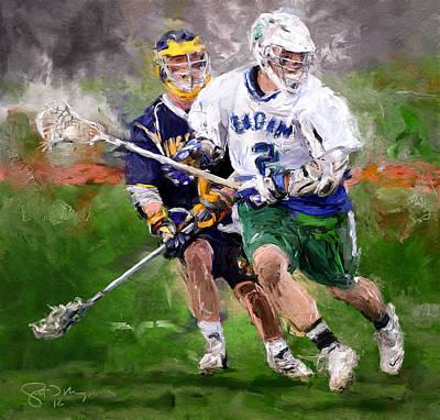 Eagan Midfielder Art Print by Scott Melby