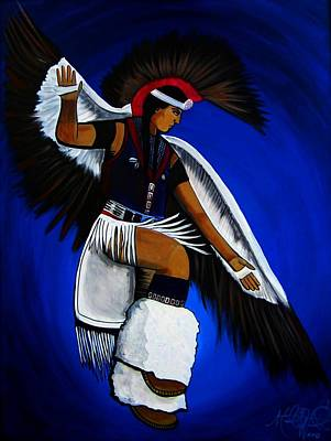 Painting - Eagle Dancer by Michelle Dallocchio
