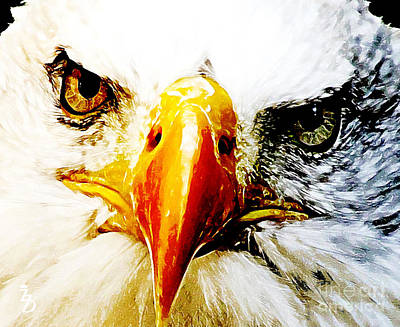 Patriot Mixed Media - Eagle Eyed by The DigArtisT
