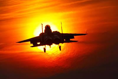 F15e Wall Art - Photograph - Eagle In The Sun by Nigel  Blake