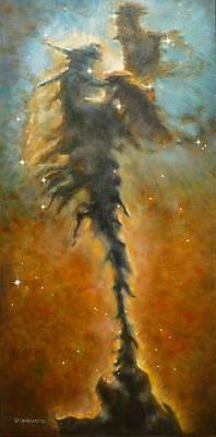 Eagle Nebula Painting - Eagle Nebula by Hugo Palomares