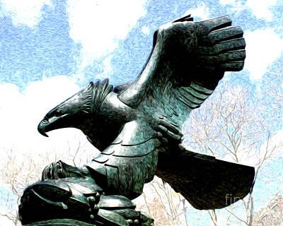 Eagle Of The East Coast Memorial Art Print by Anne Raczkowski