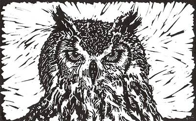 Eagle Owl Original by Julia Forsyth