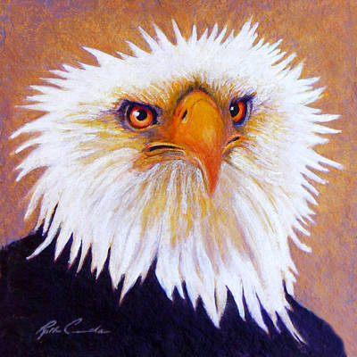 American Eagle Painting - Eagle's Bad Feather Day by Ruth Canada