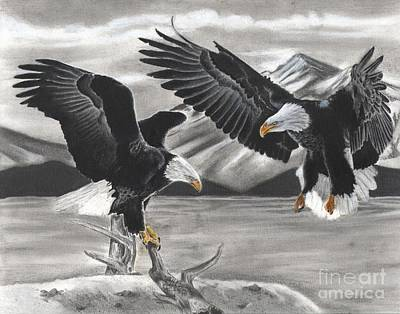 Eagles Print by Christian Conner