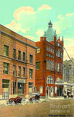 Painting - Eagles Home And Bijou Theatre In Milwaukee Wi In 1910 by Dwight Goss