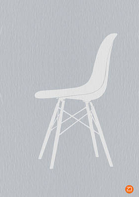 Eames Fiberglass Chair Print by Naxart Studio