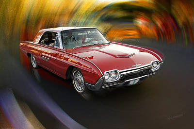 Early 60s Red Thunderbird Art Print