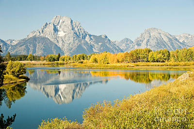 Early Autumn At Oxbow Bend Art Print