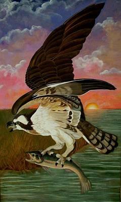 Early Catch-sunrise On The Ogeechee Art Print by Teresa Grace Mock