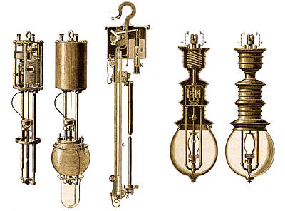 Harle Wall Art - Photograph - Early Electric Lamps by Sheila Terry
