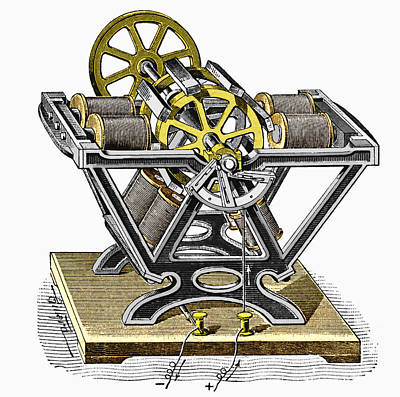 Early Electric Motor, 1834 Art Print by Sheila Terry