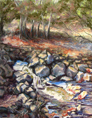 Pastel - Early Fall At Madera Canyon by Carole Haslock