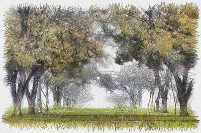 Photograph - Early Hours Of Alabama - Sketch by Nicholas Evans