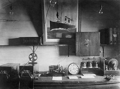 Early Marconi Apparatus Art Print by Humanities & Social Sciences Librarynew York Public Library