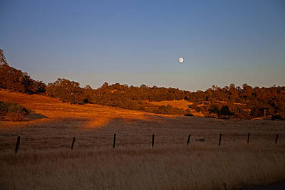 Early Moon Over Campo Seco Art Print by Joe Fernandez