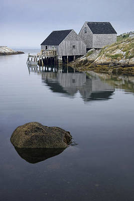 Photograph - Early Morning At Peggy's Cove Harbor by Randall Nyhof