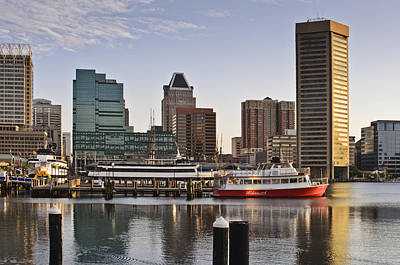Art Print featuring the photograph Early Morning Baltimore Inner Harbor by Marianne Campolongo