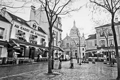 Early Morning In Place Du Tertre Paris Art Print by Andria Patino
