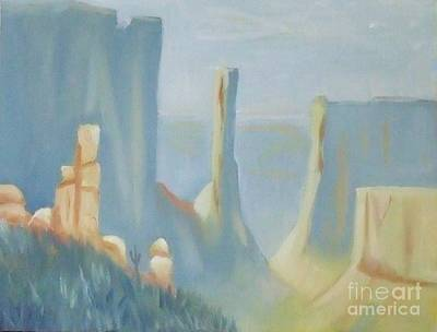 Early Morning In The Canyon Art Print by Debra Piro