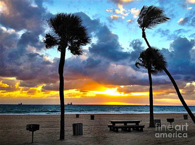 Early Morning On The Beach Art Print by Judee Stalmack