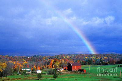 Photograph - Early Morning Rainbow by Larry Landolfi and Photo Researchers