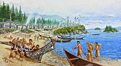 Painting - Early Pacific Northwest by Cliff Spohn