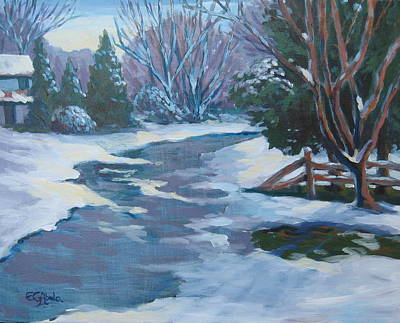 Wall Art - Painting - Early Snow by Edward Abela