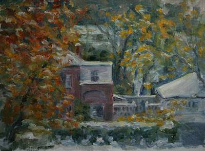 Painting - Early Snow Hartford by Edward White