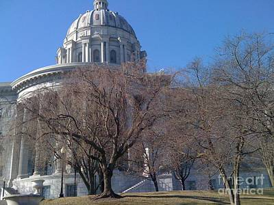 Photograph - Early Spring At The Missouri Capitol by Barbara Plattenburg
