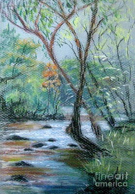 Pastel - Early Spring Creek Bed by Gretchen Allen