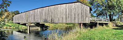 Photograph - Early Summer At  Grays River Covered Bridge by Ansel Price