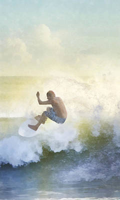 Digital Art - Early Surfer by Francesa Miller