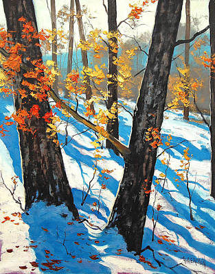 Frosty Painting - Early Winter by Graham Gercken