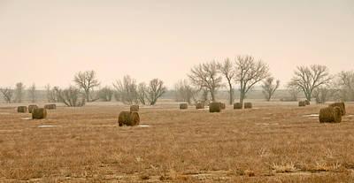 Earlying Morning Hay Bails Original