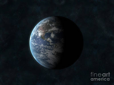 Earth Art Print by Carbon Lotus